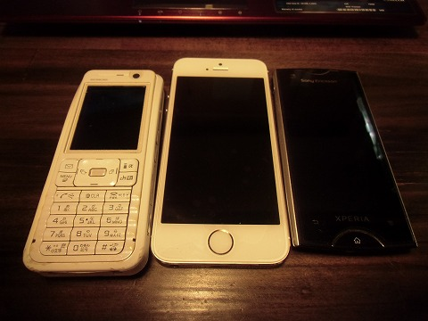 iPhone5sデビュー。