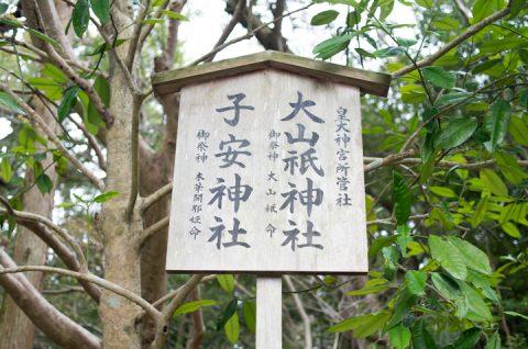 大山祗神社と子安神社。